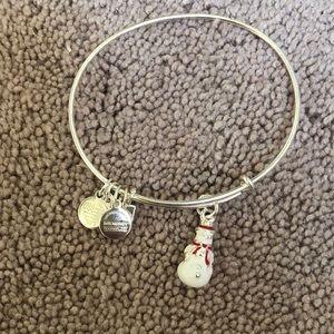 Alex and Ani snowman bracelet